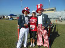 Participant with Uncle Sam(s)